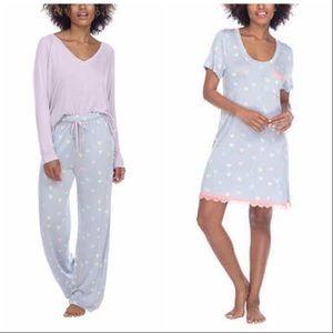 Honeydew 3 Pc Pajama Set - Purple Hearts